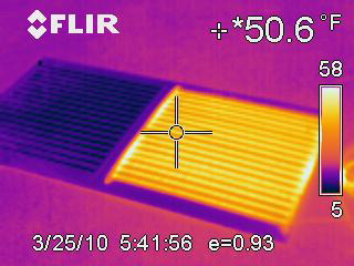 Clear View defroster infrared image