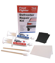 Defroster tab repair kit uses silver conductive glue