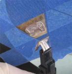 Masking off buss bar on defroster