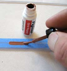 Repairing the defroster grid