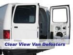 Defrosters for van rear windows