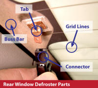 Rear Window Defroster, Demister, Defogger Parts