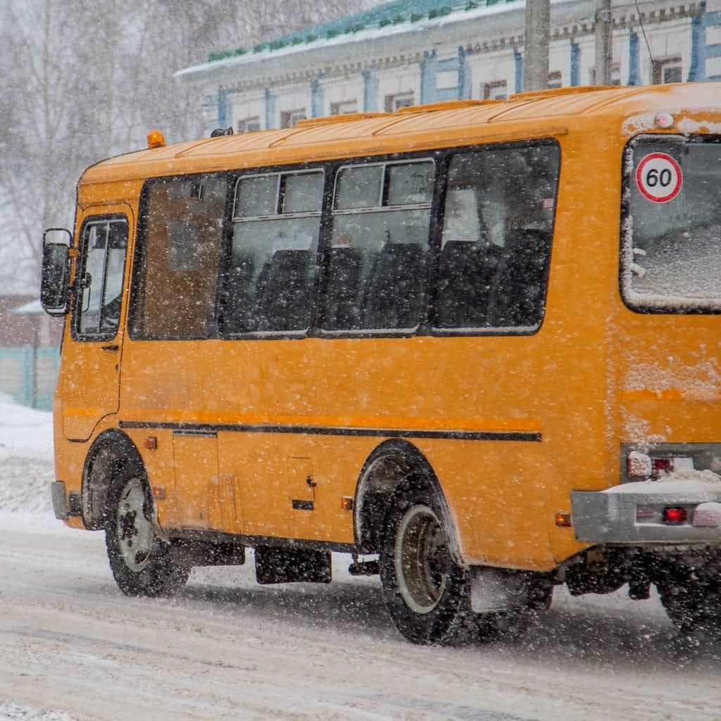 School bus front windshield defrosters